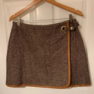 TOPSHOP wool wrap skirt